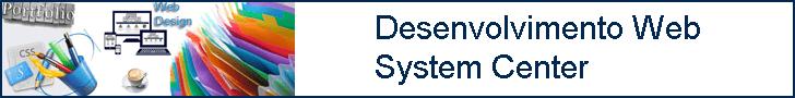 Portfólio desenvolvimento Web System Center